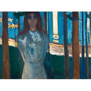 フリー絵画, エドヴァルド・ムンク, 人物画, 女性, 外国人女性