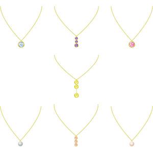 フリーイラスト, ベクター画像, AI, レディースファッション, 装飾品(アクセサリー), ネックレス, 宝石, ダイヤモンド, 真珠(パール)