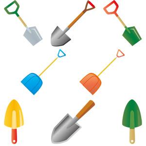 フリーイラスト, ベクター画像, AI, 農具, 土木, 工事, 園芸(ガーデニング), スコップ(シャベル), 雪かき