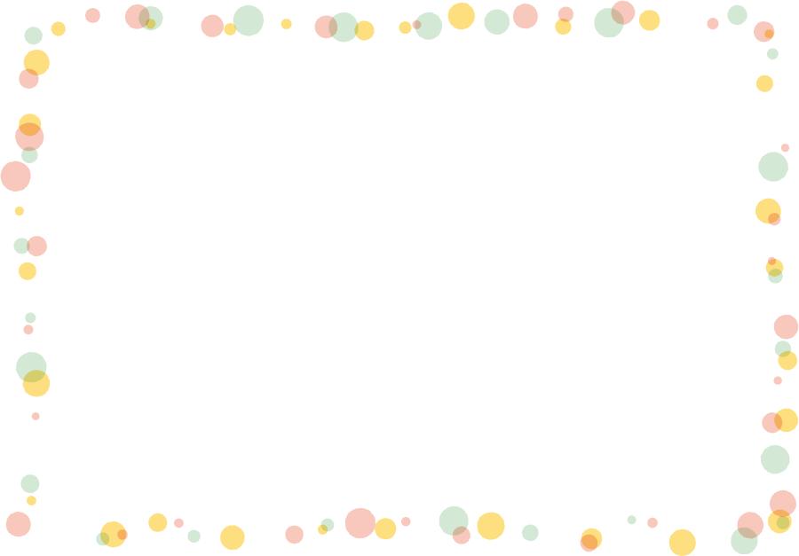 フリーイラスト 水玉模様の飾り枠