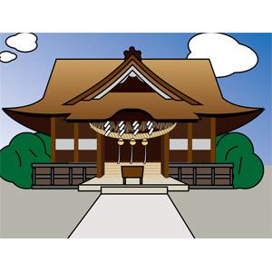 フリーイラスト, ベクター画像, AI, 風景, 建造物, 建築物, 神社, 日本神道