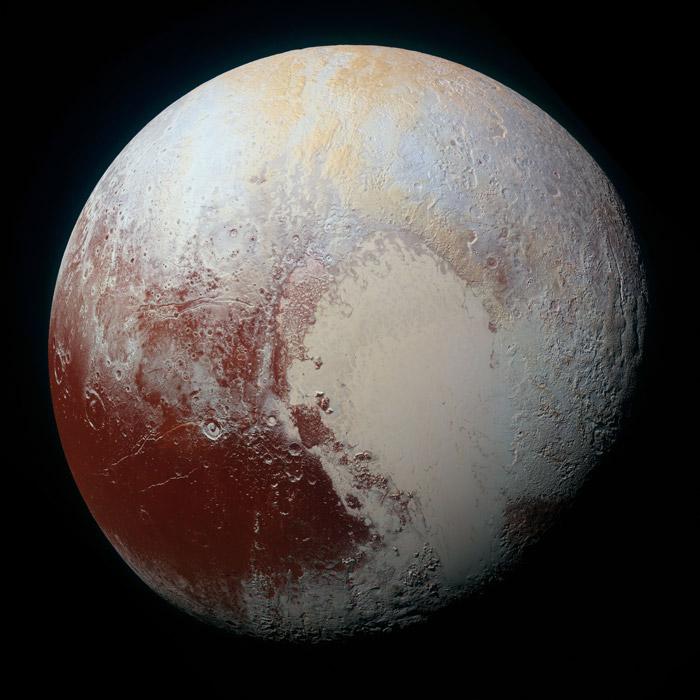 フリー写真 2015年7月14日に撮影された冥王星
