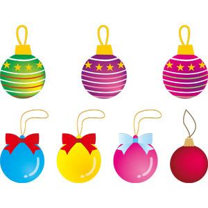 フリーイラスト, ベクター画像, AI, 年中行事, クリスマス, 12月, クリスマスボール