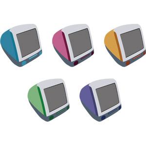 フリーイラスト, ベクター画像, AI, 家電機器, パソコン(PC), デスクトップパソコン, ディスプレイ(モニタ), CRTディスプレイ, iMac, アップル(Apple)