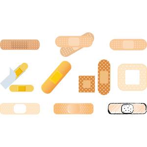 フリーイラスト, ベクター画像, AI, 絆創膏, バンドエイド(カットバン), 医療機器(医療器具), 衛生材料, 医療