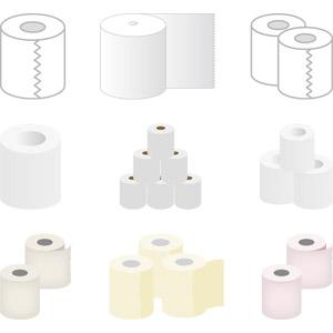 フリーイラスト, ベクター画像, AI, トイレットペーパー, トイレ, 衛生材料, 防災グッズ