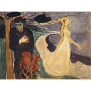 フリー絵画, エドヴァルド・ムンク, 人物画, カップル, 別れ, 二人, 胸に手を当てる, 振り返る, 浮気(不倫)