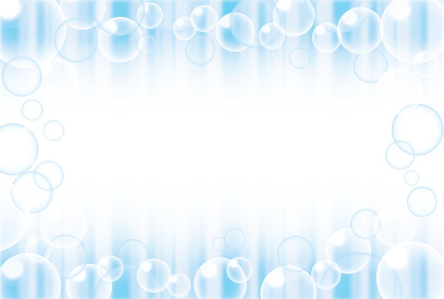 フリーイラスト 水の泡の飾り枠