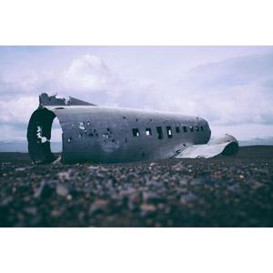 フリー写真, 風景, 航空機, 飛行機, 廃飛行機, ダグラス DC-3, アイスランドの風景