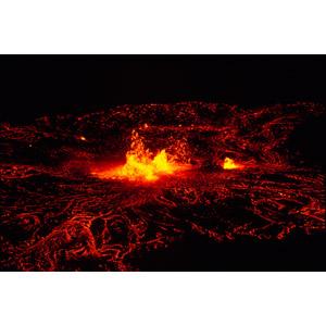 フリー写真, 風景, 自然, 災害, 自然災害, 噴火, 山, 火山, マグマ, 夜, キラウエア火山, ハワイ火山国立公園, 世界遺産, アメリカの風景, ハワイ州