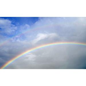 フリー写真, 風景, 自然, 空, 虹, 雲