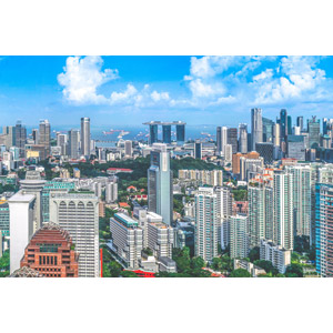 フリー写真, 風景, 建造物, 建築物, 高層ビル, 都市, 街並み(町並み), マリーナベイ・サンズ, シンガポールの風景