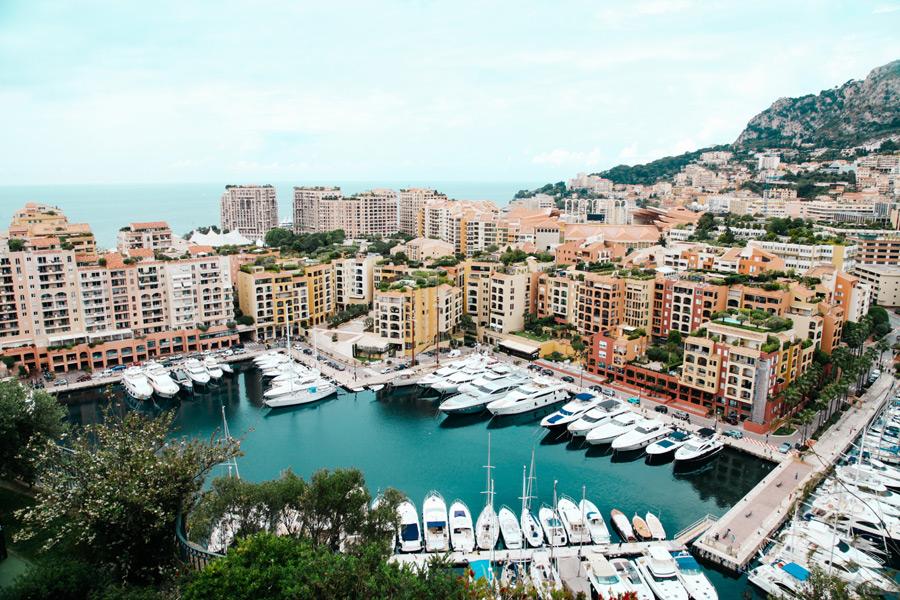 フリー写真 モナコの街並みの風景