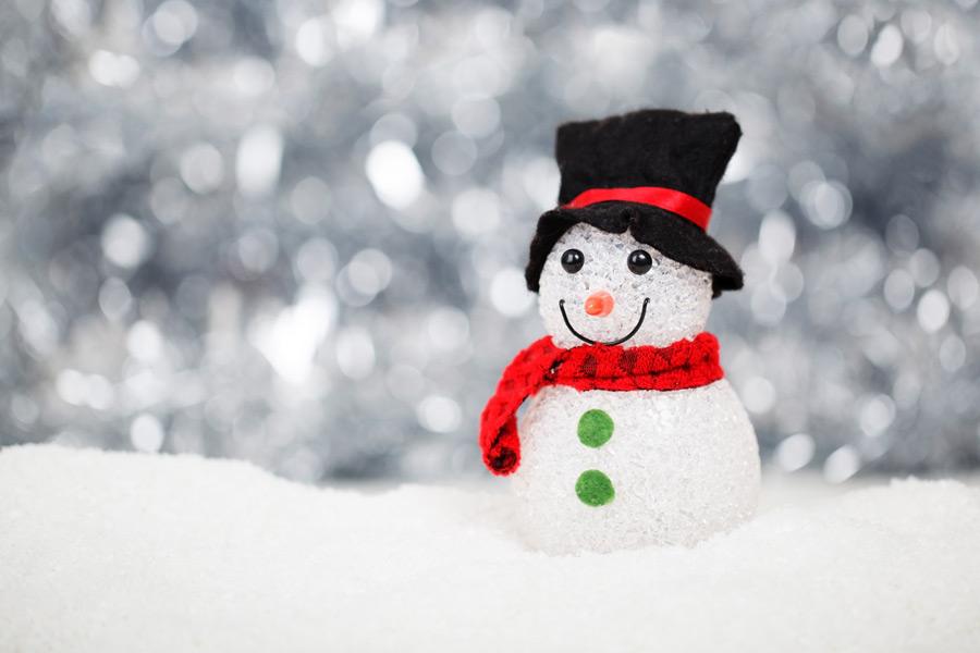 フリー写真 雪だるまの人形