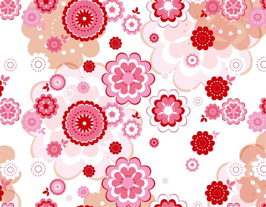 フリーイラスト 桜の花柄の背景