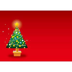 フリーイラスト, ベクター画像, AI, 背景, 年中行事, クリスマス, 12月, クリスマスツリー, 赤色(レッド)