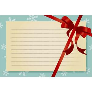 フリーイラスト, ベクター画像, EPS, 背景, メッセージフレーム, メッセージカード, リボン, 蝶リボン, 雪の結晶, クリスマス