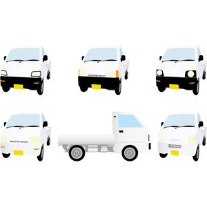 フリーイラスト, ベクター画像, AI, 乗り物, 軽自動車, 貨物自動車, トラック, 軽トラック