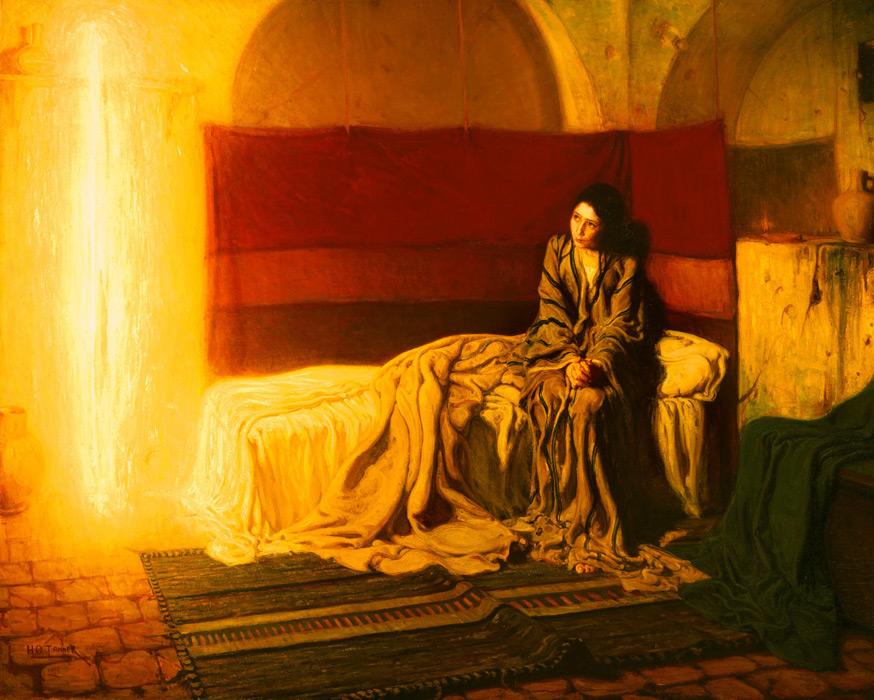 フリー絵画 ヘンリー・オサワ・タナー作「受胎告知」