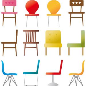 フリーイラスト, ベクター画像, AI, 家具, 椅子(イス)