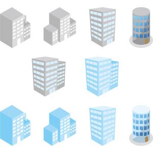 フリーイラスト, ベクター画像, AI, 建造物, 建築物, 高層ビル
