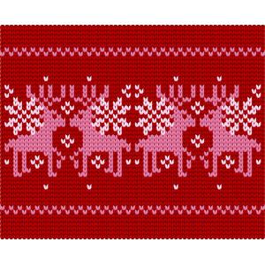 フリーイラスト, ベクター画像, AI, 背景, 編み目, トナカイ, 冬