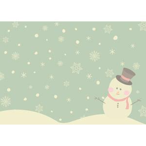 フリーイラスト, ベクター画像, AI, 背景, 雪, 雪の結晶, 雪だるま, 冬