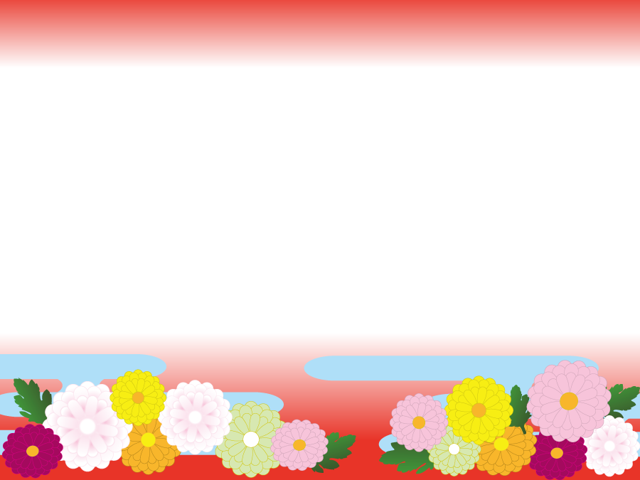 フリーイラスト 菊の花の和柄の飾り枠