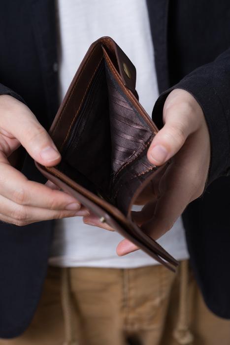 フリー写真 すっからかんの財布