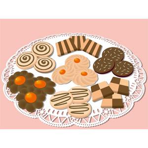 フリーイラスト, ベクター画像, EPS, 食べ物(食料), 菓子, 洋菓子, クッキー(ビスケット), レース編み