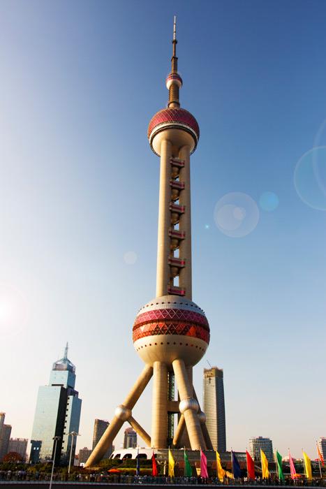 フリー写真 東方明珠電視塔の風景