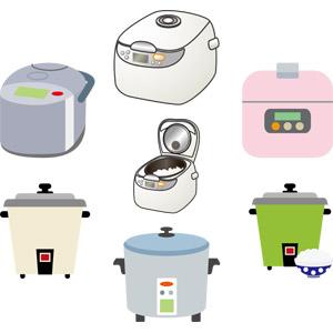 フリーイラスト, ベクター画像, AI, 家電機器, 炊飯器, 調理器具