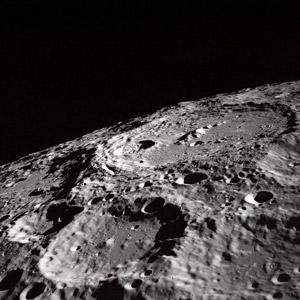 フリー写真, 風景, 自然, 天体, 月, クレーター, モノクロ