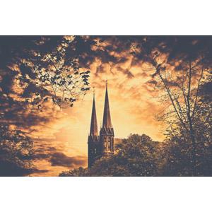 フリー写真, 風景, 建造物, 建築物, 教会, オランダの風景