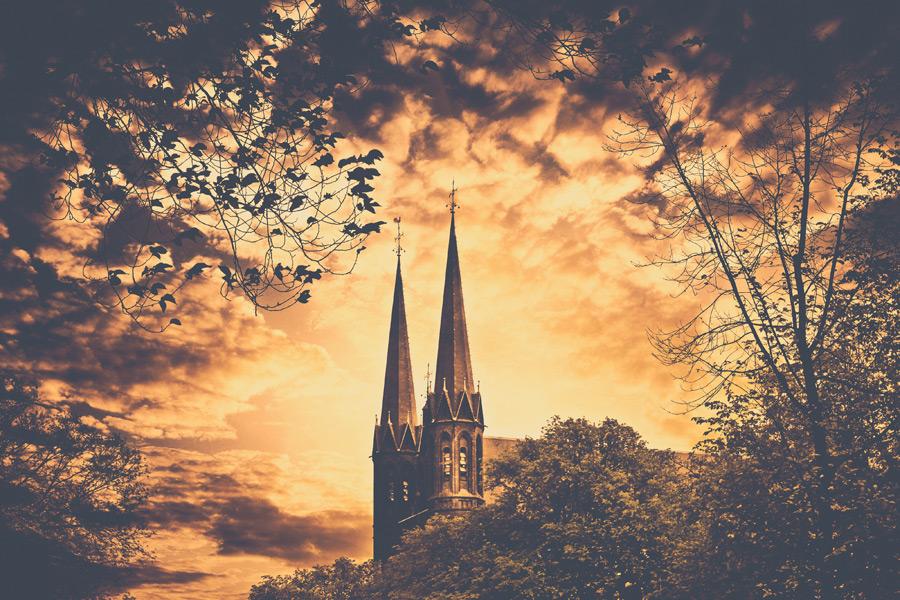 フリー写真 デン・ハーグの教会の風景