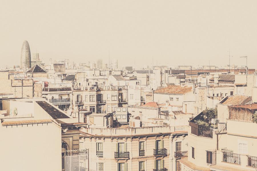 フリー写真 バルセロナの街並み風景