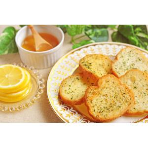 フリー写真, 食べ物(食料), パン, ガーリックトースト, レモン