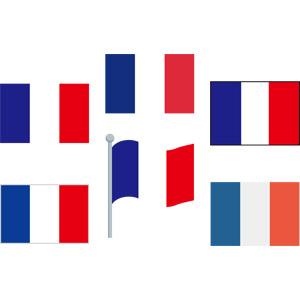 フリーイラスト, ベクター画像, AI, 国旗, 旗(フラッグ), フランスの国旗