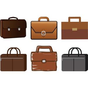 フリーイラスト, ベクター画像, AI, ビジネス, ブリーフケース, 鞄(バッグ), メンズファッション