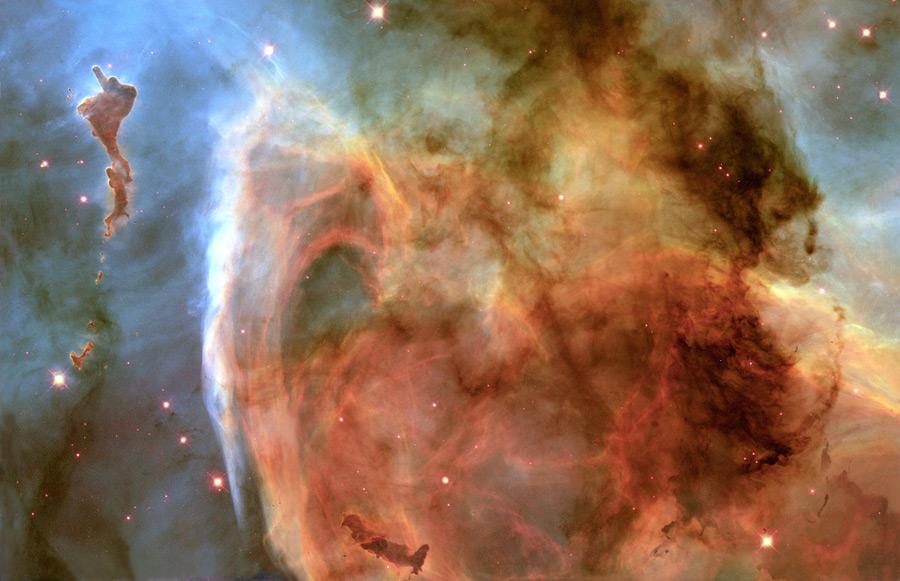 フリー写真 イータカリーナ星雲内の鍵穴星雲