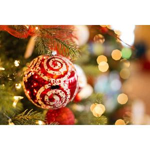 フリー写真, 年中行事, クリスマス, 12月, クリスマスボール
