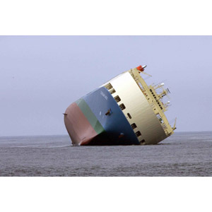 フリー写真, 乗り物, 船, 貨物船, 座礁, 事故, 災害, 海