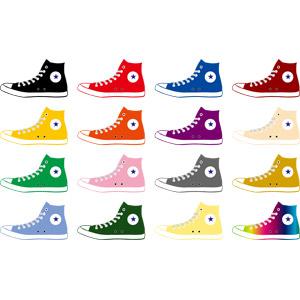 フリーイラスト, ベクター画像, AI, 靴(シューズ), スニーカー, メンズファッション