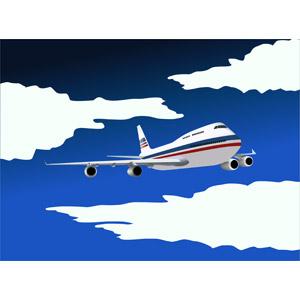フリーイラスト, ベクター画像, SVG, 乗り物, 航空機, 飛行機, 旅客機, 旅行(トラベル), 海外旅行, 空