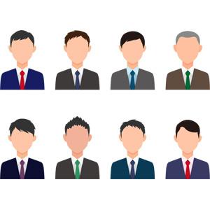 フリーイラスト, ベクター画像, AI, 人物, 男性, 職業, ビジネス, ビジネスマン, サラリーマン, メンズスーツ, ネクタイ