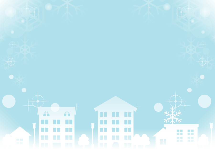 フリーイラスト 雪の降る街の風景