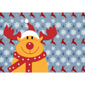 フリーイラスト, 背景, 年中行事, クリスマス, 12月, 冬, 雪の結晶, トナカイ