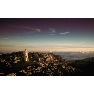 フリー写真, 風景, 山, 雲, 雲海, 人と風景, 後ろ姿
