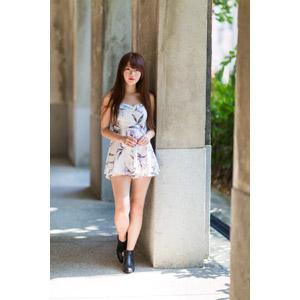 フリー写真, 人物, 女性, アジア人女性, 中国人, 欣欣(00001), チュニック, ショートパンツ