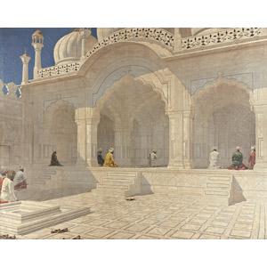 フリー絵画, ヴァシーリー・ヴェレシチャーギン, 風景画, 建造物, 建築物, モスク, モティ・マスジド(真珠モスク), インドの風景